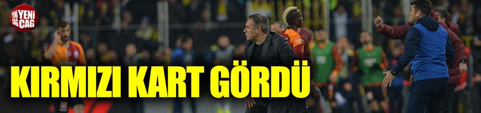 Fenerbahçe-Galatasaray derbisinde Ersun Yanal kırmızı kart gördü