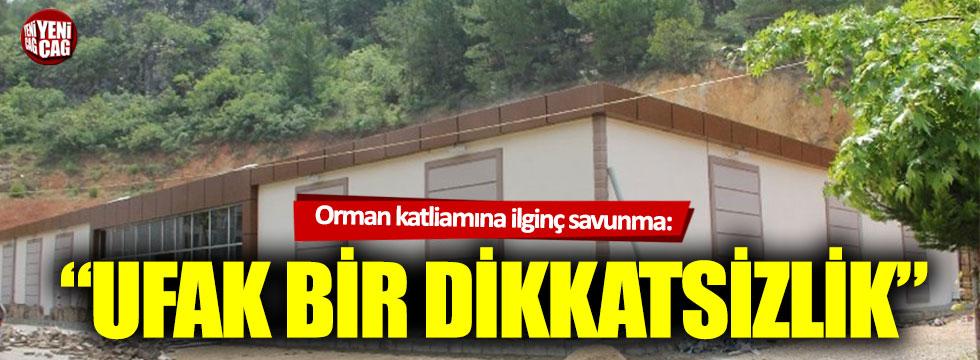 """AKP'li başkandan kaçak inşaat savunması: """"Ufak bir dikkatsizlik"""""""