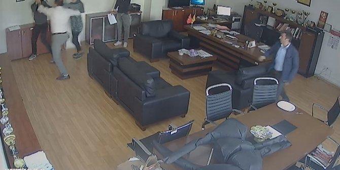 Müdür odasında öğrenciye saldırı! Güvenlik kameraları kaydetti