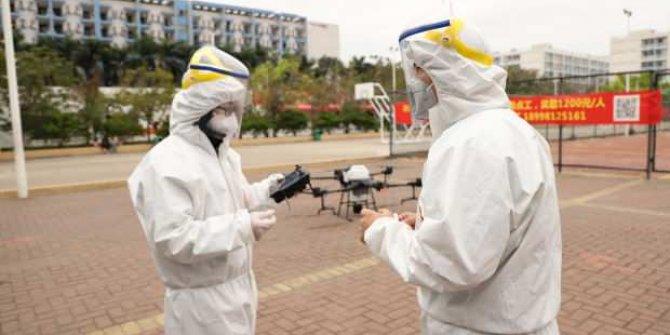 Dronelar coronavirüsle savaşıyor