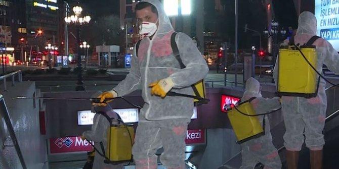 Ankara metrosunda coronavirüs önlemi