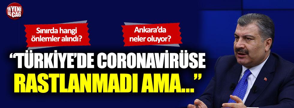 """Fahrettin Koca: Türkiye'de coronavirüse rastlanmadı ama…"""""""