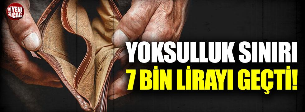 Yoksulluk sınırı 7 bin lirayı geçti!