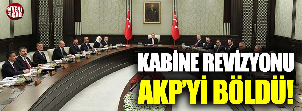 Kabine revizyonu AKP'yi böldü