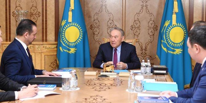 Türk Konseyi Onursal Başkanı Nazarbayev Prof.Dr. Kürşad Zorlu'yu kabul etti