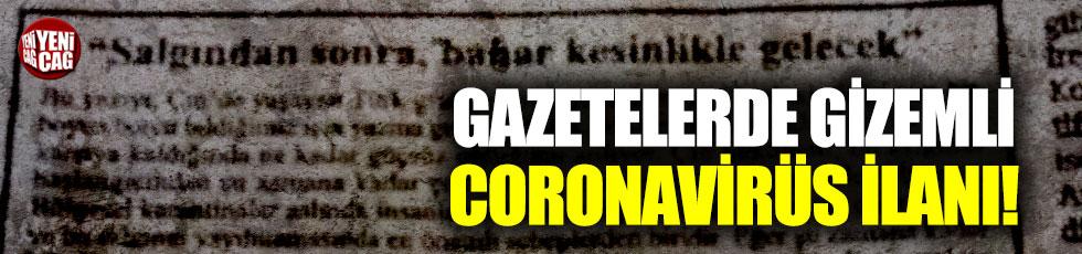 Gazetede ilginç Çin ve corona virüs ilanı