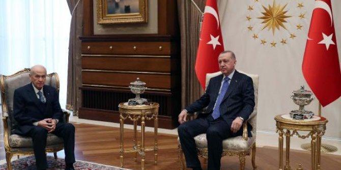 Tayyip Erdoğan, Devlet Bahçeli ile görüştü
