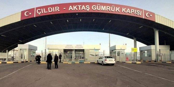 Çıldır Aktaş Sınır Kapısı kapatıldı