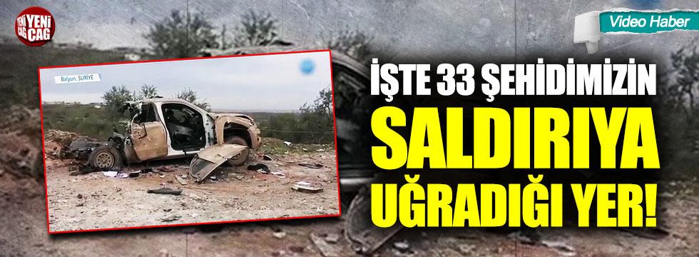 İşte 33 şehidimizin saldırıya uğradığı yer!