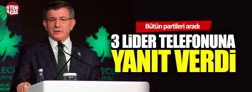 Ahmet Davutoğlu İdlib'i konuşmak için parti genel başkanlarını aradı