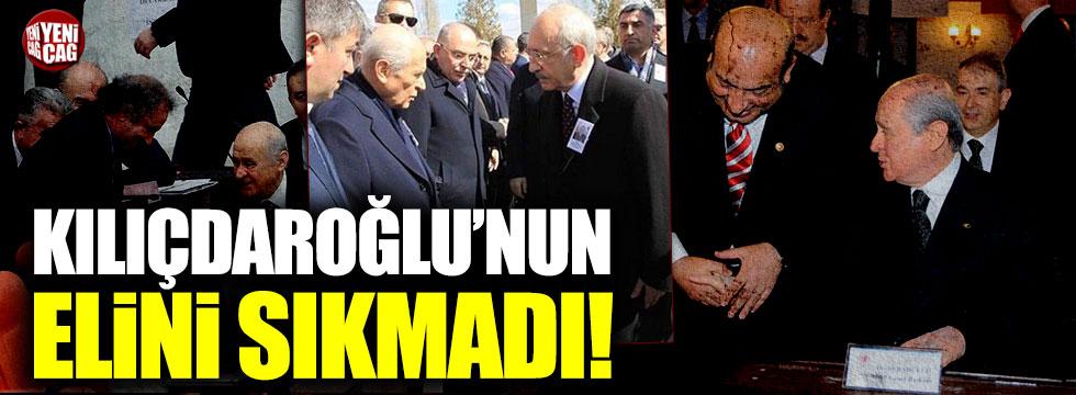 Devlet Bahçeli, Kemal Kılıçdaroğlu'nun elini sıkmadı