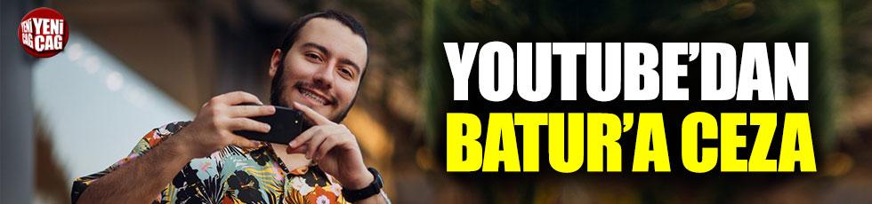 Enes Batur'a YouTube'dan ceza