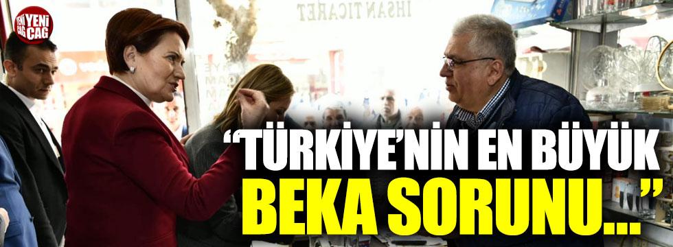 """Meral Akşener: """"Türkiye'nin en büyük beka sorunu…"""""""