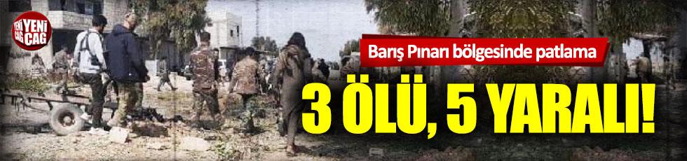 Barış Pınarı bölgesinde patlama! 3 ölü, 5 yaralı