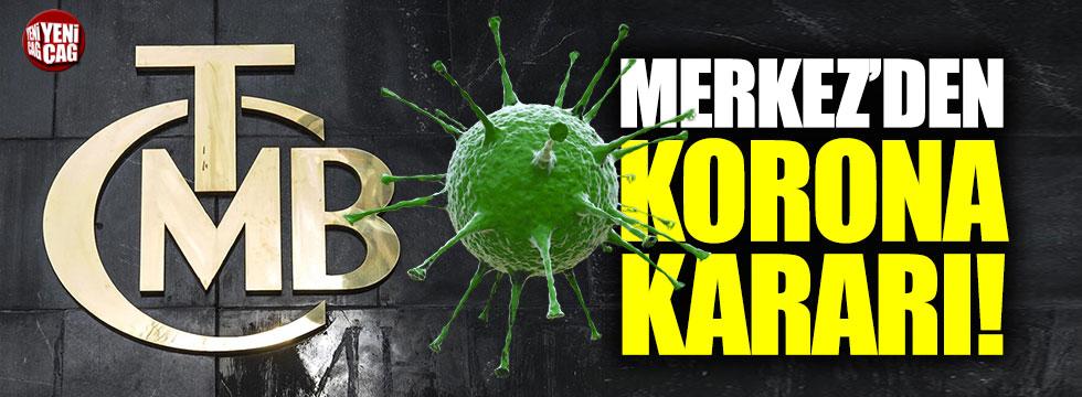 Merkez Bankası'ndan korona virüs önlemleri