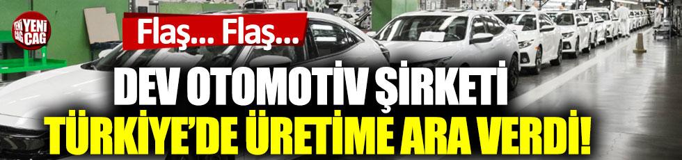Dev otomotiv şirketi Honda'dan Türkiye'deki üretime korona virüs arası!