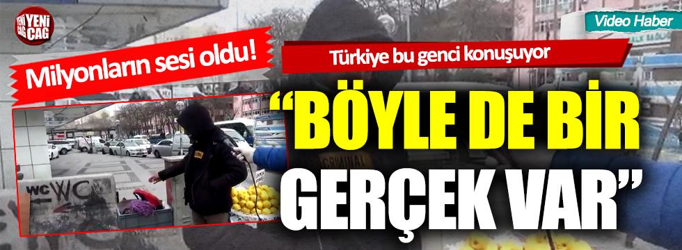 Türkiye, pazarcı genci konuşuyor