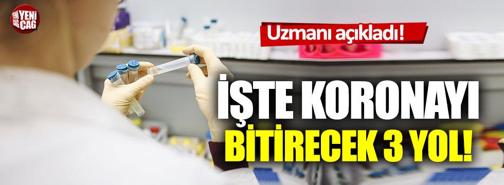 Prof. Dr. Mehmet Ceyhan, korona virüsü bitirecek 3 yolu anlattı!