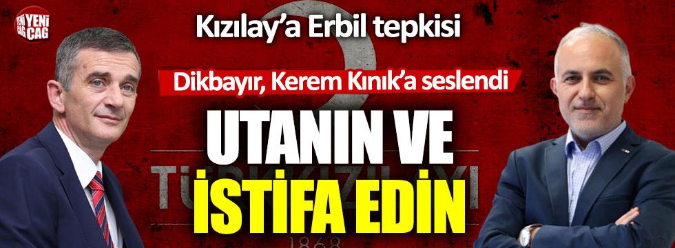 Ümit Dikbayır'dan Kızılay'a maske tepkisi