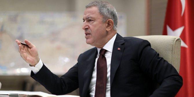 MSB Bakanı Akar, Irak Haftanin'de şehit düşen askerler için başsağlığı diledi