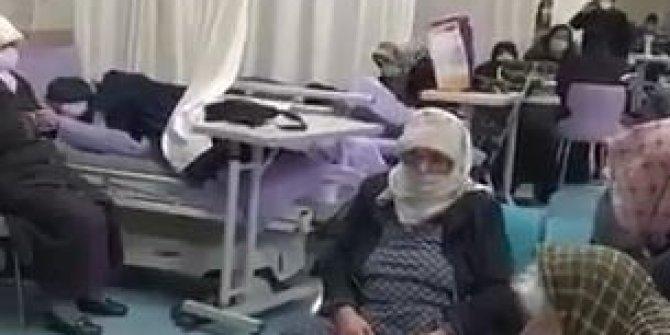 Korona hastanesinde şok görüntüler!
