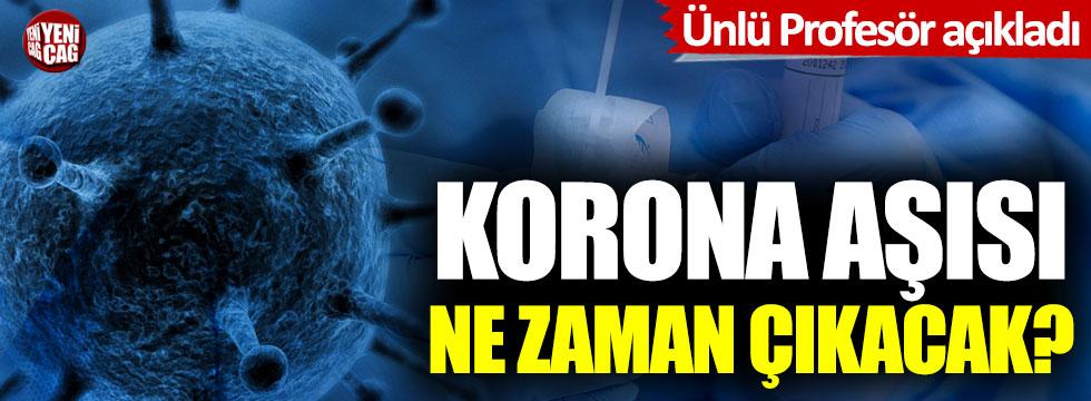 Korona virüsü aşısı ne zaman çıkacak? Ünlü profesör açıkladı