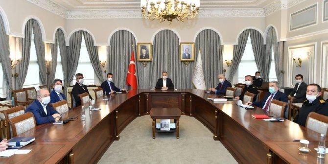 İstanbul Valiliği'nde korona virüsü toplantısı