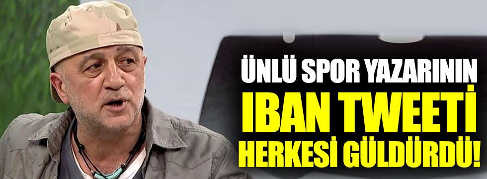 Ünlü spor yazarı Bilgin Gökberk'in ıban tweeti herkesi güldürdü!