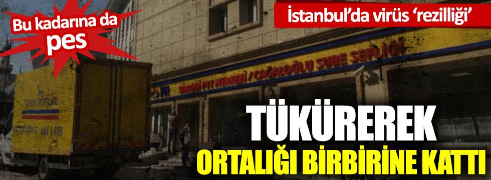 İstanbul'da vatandaş ve PTT görevlilerinin üzerine tükürdü