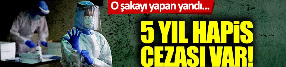 1 Nisan nedeniyle korona virüs şakası yapana 5 yıl hapis cezası