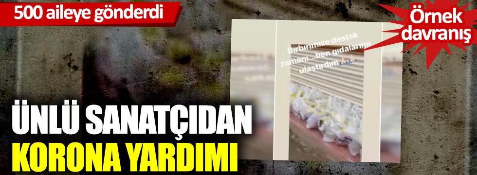 Ebru Yaşar'dan 500 aileye korona yardımı