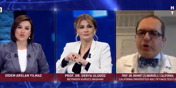 Habertürk canlı yayını karıştı: Prof. Dr. Mehmet Çilingiroğlu yayını terk etti