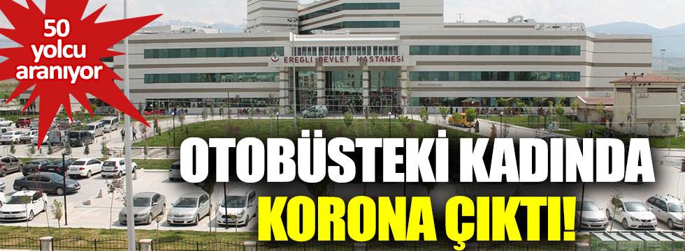 İstanbul'dan Konya'ya otobüsle giden kadında korona çıktı
