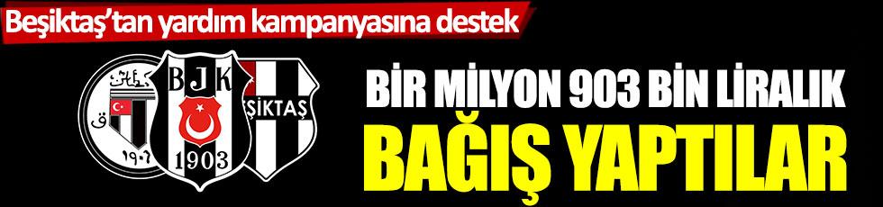 Beşiktaş'tan yardım kampanyasına destek