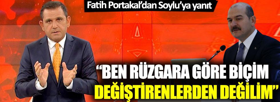 Fatih Portakal'dan Süleyman Soylu'ya yanıt
