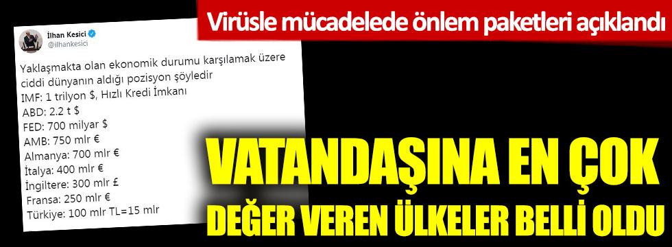 İlhan Kesici virüse karşı bütçe ayıran ülkelere dikkat çekti! İşte Türkiye detayı...