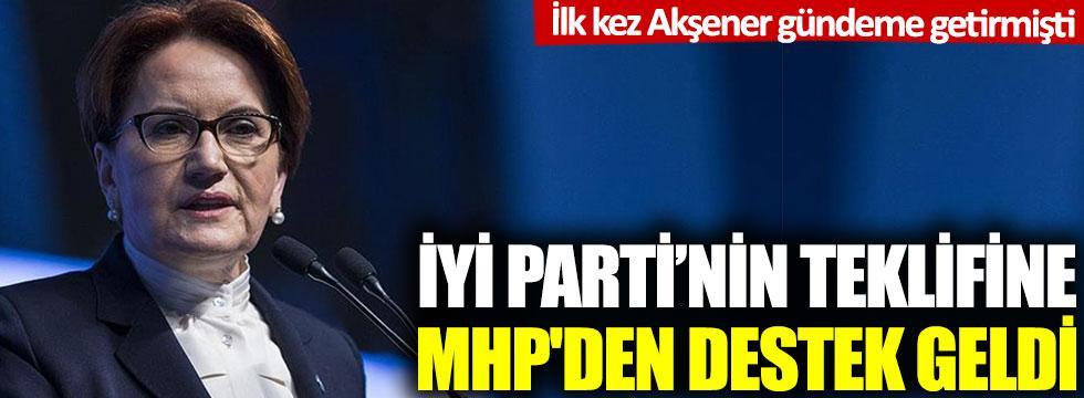 İYİ Parti'nin sağlık çalışanlarıyla ilgili teklifine MHP'den destek