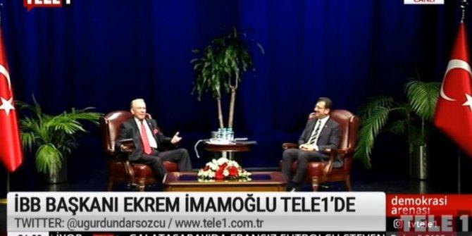 İBB Başkanı İmamoğlu, TELE 1'de sokağa çıkma yasağı talebini yineledi