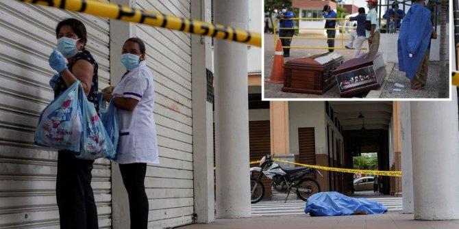 Ekvador'da sokaklardan 150 ceset toplandı