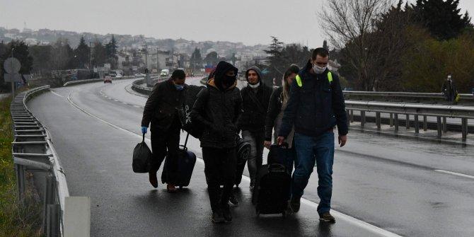 Tekirdağ'da korona virüs tedbirleri vatandaşlara zor anlar yaşattı
