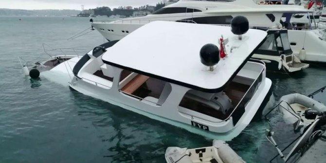 Beşiktaş'ta lüks tekne battı!