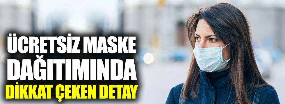 PTT'nin ücretsiz maske dağıtımında dikkat çeken detay