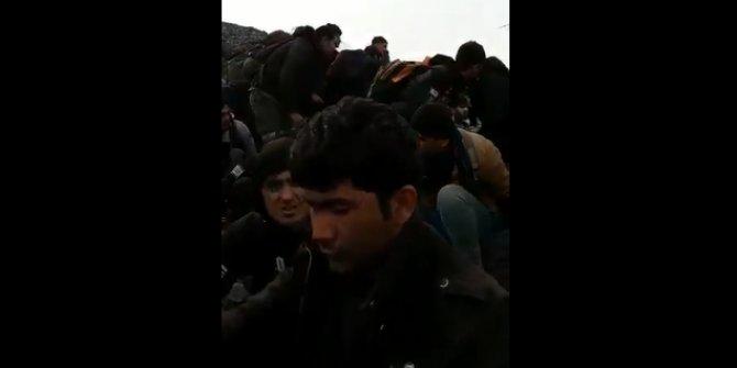 Sinan Oğan paylaştı: Öksüren mülteciler Türkiye'ye geçiyor