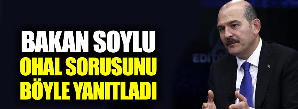 """Bakan Soylu'dan OHAL yanıtı: """"Kesinlikle olmaz dememiz mümkün değil"""""""