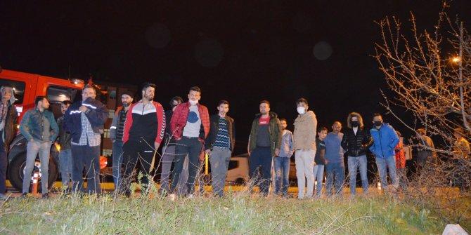 Aksaray'da minibüs kazasında ilginç anlar