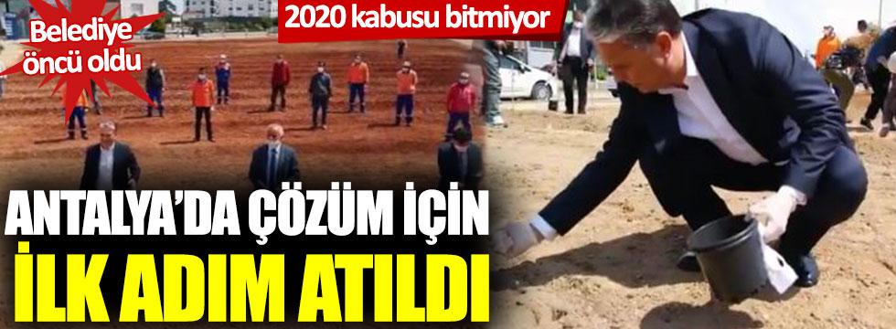 2020 kabusu bitmiyor: Belediye öncü oldu, Antalya'da çözüm için ilk adım atıldı