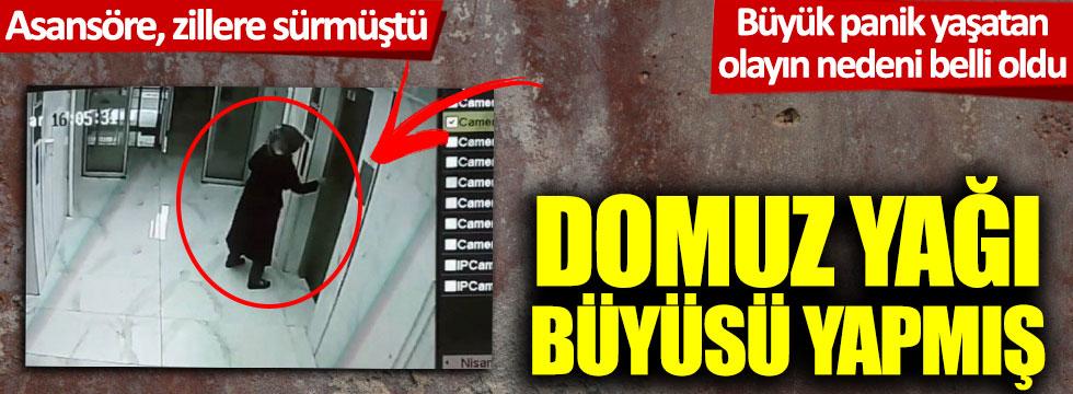 Kayseri'de yakalanan kadın asansöre ve zillere büyü için domuz yağı sürmüş