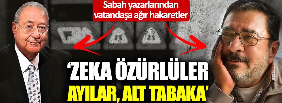 """Mehmet Barlas ve Engin Ardıç'tan vatandaşlara: """"Ayılar, zeka özürlüler"""""""