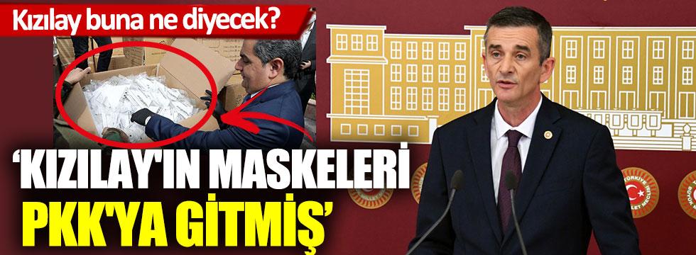 İYİ Partili Ümit Dikbayır, Kızılay'ın maskeleri PKK'ya gitmiş