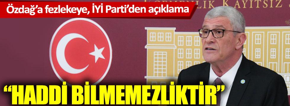 İYİ Parti'den Ümit Özdağ hakkındaki fezlekeye ilişkin açıklama